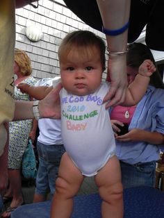 our youngest supporter (at the time) 2010 Cape Cod Bay Challenge baby, Aria!