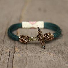 Greeen Stammes-Armband Afrikanischer Schmuck von Naryajewelry