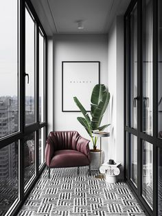 Local outdoor lovers are often looking for beautiful balcony ideas that help to optimally design an existing balcony. Balcony design ideas there are many, but not everyone is equally suitable for every building. Interior Balcony, Apartment Balcony Decorating, Interior Design Living Room, Living Room Designs, Living Room Trends, Apartment Interior Design, Luxury Interior Design, Small Balcony Design, Small Balcony Decor