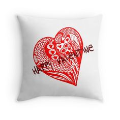 Happy Valentine Heart 11 Aussie Tangle  now available at http://www.redbubble.com/people/heatherian/works/13762250-happy-valentine-heart-11-aussie-tangle