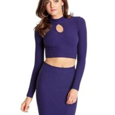 Marciano Trina textured Crop Top Purple XS/S Beautiful crop top that has never been worn. It's very tight fitting and stretchy. Marciano Tops Crop Tops