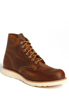 Red Wing Round Toe Boot available at #Nordstrom, color-copper rough