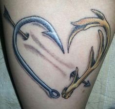 Updated pic of my tattoo now that it has peeled...1 week later. Hook n antler with arrow. #antler n hook