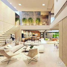 """Luxury Homes Interior Dream Houses Exterior Most Expensive Mansions Plans Modern 👉 Get Your FREE Guide """"The Best Ways To Make Money Online"""" Dream Home Design, Modern House Design, Modern Condo, Modern Loft, Dream Rooms, House Rooms, Living Rooms, Design Case, Interior Architecture"""