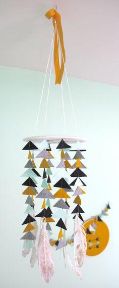 Tribal Feather / Arrow Baby Mobile U Pick Colors by aprilderek