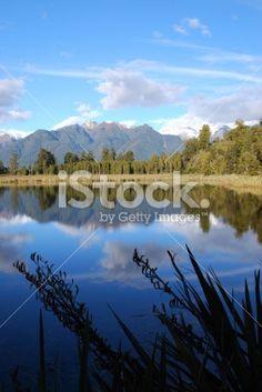 Lake Matheson, West Coast, New Zealand Royalty Free Stock Photo Nature Photos, Simply Beautiful, West Coast, New Zealand, Reflection, Royalty Free Stock Photos, Mountains, Photography, Travel