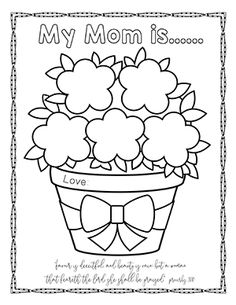 Mothers Day Coloring Pictures Printable Mothers Day