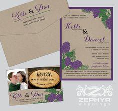 {Congratulations} Kelli + Dan 08.27.16 - cedar ridge winery in iowa, winery wedding invitations, grape vines, kraft paper, save the date postcard