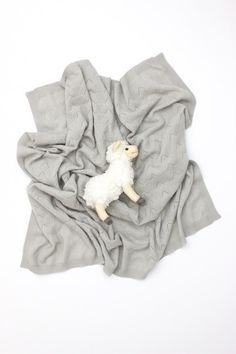 Cashmere Feather Stitch Blanket