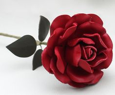 Can you believe this is made from leather? ~ WHAT A BEAUTIFUL BROOCH THIS WOULD MAKE!!! A