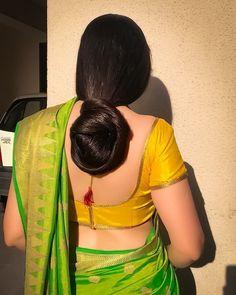 Beautiful Buns, Beautiful Girl Indian, Most Beautiful Indian Actress, Beautiful Women, Indian Bridal Hairstyles, Bun Hairstyles, Long Silky Hair, Indian Girl Bikini, Beauty Women