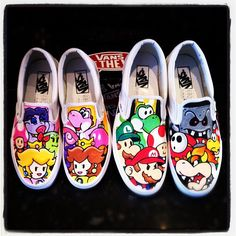Paper Mario Vans Girls and Boys by ~VeryBadThing on deviantART