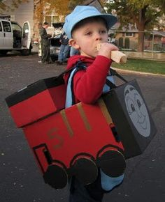 Thomas & friends James DIY Halloween costume. Simple train costume. Maybe not as heavy as the more detailed ones?