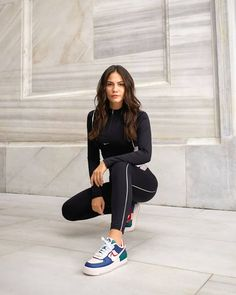 Demet Özdemir encourages dancing for a sports firm's campaign The beautiful Turkish actress, who plays Sanem in Erkenci Kus, challen. Cute Lazy Outfits, Stylish Outfits, Fashion Outfits, Outfit Cabello, Gucci Mens Sneakers, Leather Tights, Turkish Women Beautiful, Winter Vest, Sweater Scarf