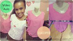 Costurando uma blusa Scalloped com Alana Santos Blogger