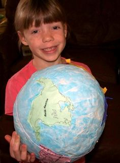 DIY Papier Mache globe