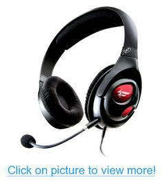 Creative Labs USB Gaming Headset with Sound Blaster X-Fi Technology (Black) Best Gaming Headset, Gaming Headphones, Best Computer, Gaming Computer, Gaming Desktops, Sound Blaster, Best Pc, Creative Labs, Gamer Gifts