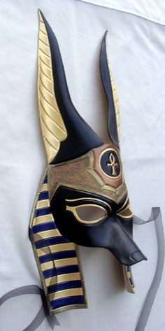 Made To Order Egyptian Jackal Anubis Leather by B3leatherdesigns, $170.00
