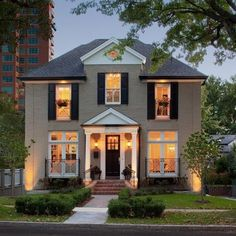 Exterior Photos Painted Brick Design Ideas, Pictures, Remodel, and Decor - page 6