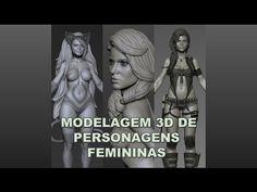 Modelagem 3D De Personagens Femininas - YouTube