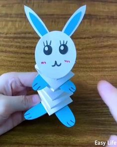 Easy Paper Crafts for Kids. DIY Crafts and Activities for Kids. Children will love these easy paper arts a lot. Easy Easter Crafts, Paper Crafts For Kids, Easy Crafts, Arts And Crafts, Easy Origami For Kids, Origami Easy, Paper Crafts Origami, Paper Crafting, Toddler Crafts