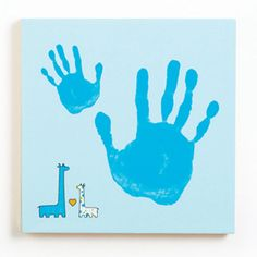 """Love this idea!! Make a giant canvas, handprint haphazardly - 1 for each year they grow, in a different color, as a """"growth chart"""" work of art."""