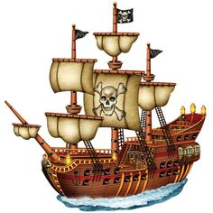 """Jointed Pirate Ship Cutout Includes (1) themed cutout. Paper; 31"""" wide x 24"""" high. Weight (lbs) 0.65 Length (inches) 27.5 Width (inches) 16 Height(inches) 0.25"""