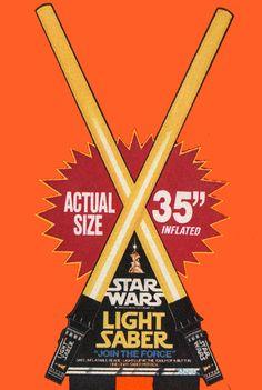 Star Wars light sabers Kenner, 1978.