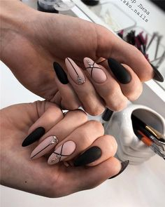 Newest and Hottest Matte Nail Art Designs Ideas … - Nail Design Ideas! - Newest and Hottest Matte Nail Art Designs Ideas … – Nail Design Ideas! Newest and Hottest Matte Nail Art Designs Ideas … Classy Nail Designs, Black Nail Designs, Nail Art Designs, Latest Nail Designs, Almond Acrylic Nails, Cute Acrylic Nails, Glitter Nails, Gradient Nails, Holographic Nails