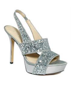 Sparkle, sparkle!! Nine West Shoes, Fairgame Platform Sandals - Sandals - Shoes - Macy's