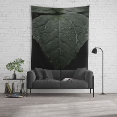Botanical Still Life Photography Drops On Leaf Wall Tapestry by ARTbyJWP via Society6 #walldeco #walltapestry #wallhanging #homedecor #botanical Available in three distinct sizes, our Wall Tapestries are made of 100% lightweight polyester with hand-sewn finished edges. Featuring vivid colors and crisp lines, these highly unique and versatile tapestries are durable enough for both indoor and outdoor use. Machine washable for outdoor enthusiasts, with cold water on gentle cycle.
