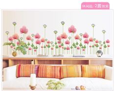 Cncondom flower kitchen home adornment wall living room stickers on the wall. If You get more ideas click picture . Room Stickers, Kitchen Wall Stickers, Kitchen Wall Art, Living Room Kitchen, Kitchen Decor, Aluminum Foil Art, Removable Wall Stickers, Art Decor, Decoration