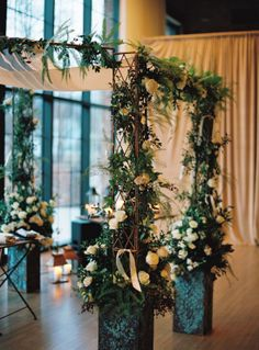 Custom made Wedding Chuppah by Copper Fields Design Studio. Each piece can be broken down and sheared among the bride and groom and or parent's as an heirloom. http://copperfieldsdesign.com/portfolio/chuppahs-wedding-canopy/