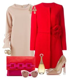 """""""Untitled #129"""" by zako14 on Polyvore featuring Gina Bacconi, Boutique Moschino, Trina Turk, Christian Louboutin, Blanc & Eclare, Christian Dior, Lucifer Vir Honestus, Irene Neuwirth, women's clothing and women"""