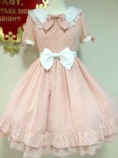 Baby, The Stars Shine Bright Snow Dot Chiffon OP #btssb #dress #pink