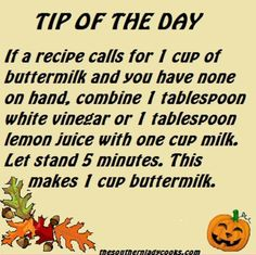 This works better with soy milk than almond milk. If … - Essen kochen und Rezepte Hacks Cocina, Buttermilk Substitute, Homemade Buttermilk, Tandoori Masala, Cooking Measurements, Kitchen Helper, Baking Tips, Baking Hacks, Food Facts