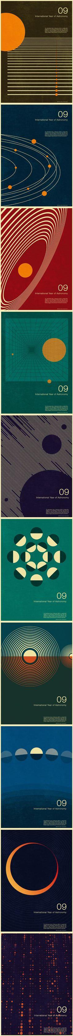 Bauhaus astronomy luv International Year of Astronomy print series, Simon C Page, 2009 Graphisches Design, Swiss Design, Retro Design, Book Design, Layout Design, Print Design, Poster Design, Graphic Design Posters, Graphic Design Typography