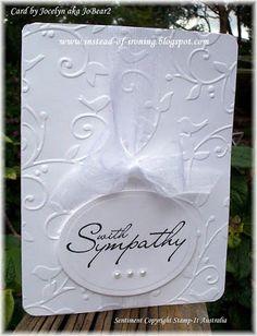 Instead of Ironing Blogspot: Cuttlebug: Birds and Swirls - my 2nd Sympathy Card