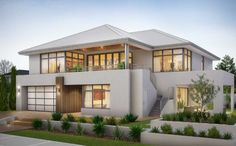 Two storey house plans with balcony design ideas House Balcony Design, House With Balcony, 2 Storey House Design, Modern House Plans, Dream House Plans, Modern House Design, Two Storey House Plans, Storey Homes, Dream House Exterior