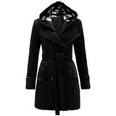Mantel mit Linie Damen Winterjacke Fell Elegant Fellkragen Warm Winterparka lang mit Teaio Wintermantel Jacke Winter Trenchcoat A Winter Gürtel Winter DH9IWE2