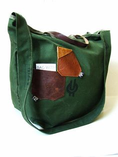 Tote for men  - vol. 2  recycled from train curtain