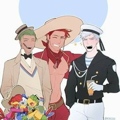 Read from the story Imágenes de Los Tres Caballeros. [Three Gay Caballeros] by (🍂🍁Woodchuck Explorer🍂🍁) with reads. Walt Disney, Disney Fun, Disney Mickey, Disney Pixar Movies, Disney Crossovers, Humanized Disney, Rick And Morty Crossover, Disney Ducktales, Three Caballeros