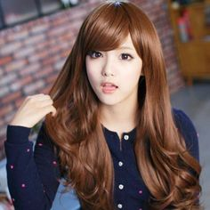 65-70cm Light Brown Curly Synthetic Wig For Women