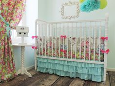 If you're looking for modern, yet whimsical crib bedding, we just love @tushiestantrums!