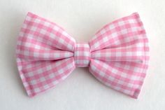Boys Bow Tie Pink Gingham Newborn Baby Child by lollyludesigns, $6.95
