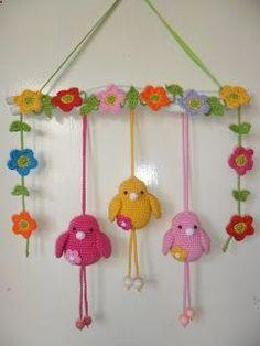 cute crocheted birds