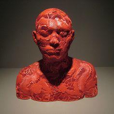 Ah Xian, Human Human, lacquered busts - Eloge de l'Art par Alain Truong Statues, Bev Doolittle, Sculpture Head, Resin Sculpture, Modern Sculpture, Human Human, Famous Art, Deviantart, Chinese Art