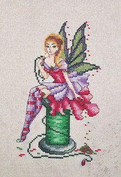 Arianna the Stitching Fairy - Cross Stitch Pattern by Cross Stitching Art