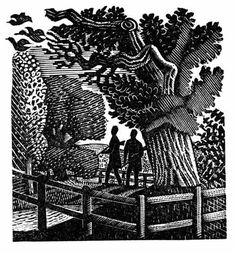 Wood engraving by Eric Ravilious from Gilbert White's 'The Natural History of Selborne', 1938 (Nonesuch Press) Kunst Poster, Scratchboard, Wood Engraving, Map Art, Woodblock Print, Natural History, Printmaking, Illustrators, Graphic Art