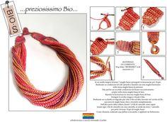 Collana a crochet. Fonte: https://www.facebook.com/pages/Manifattura-Sesia/166741983519271